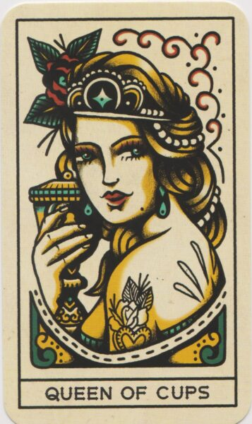 Queen of Cups from the Tattoo Tarot