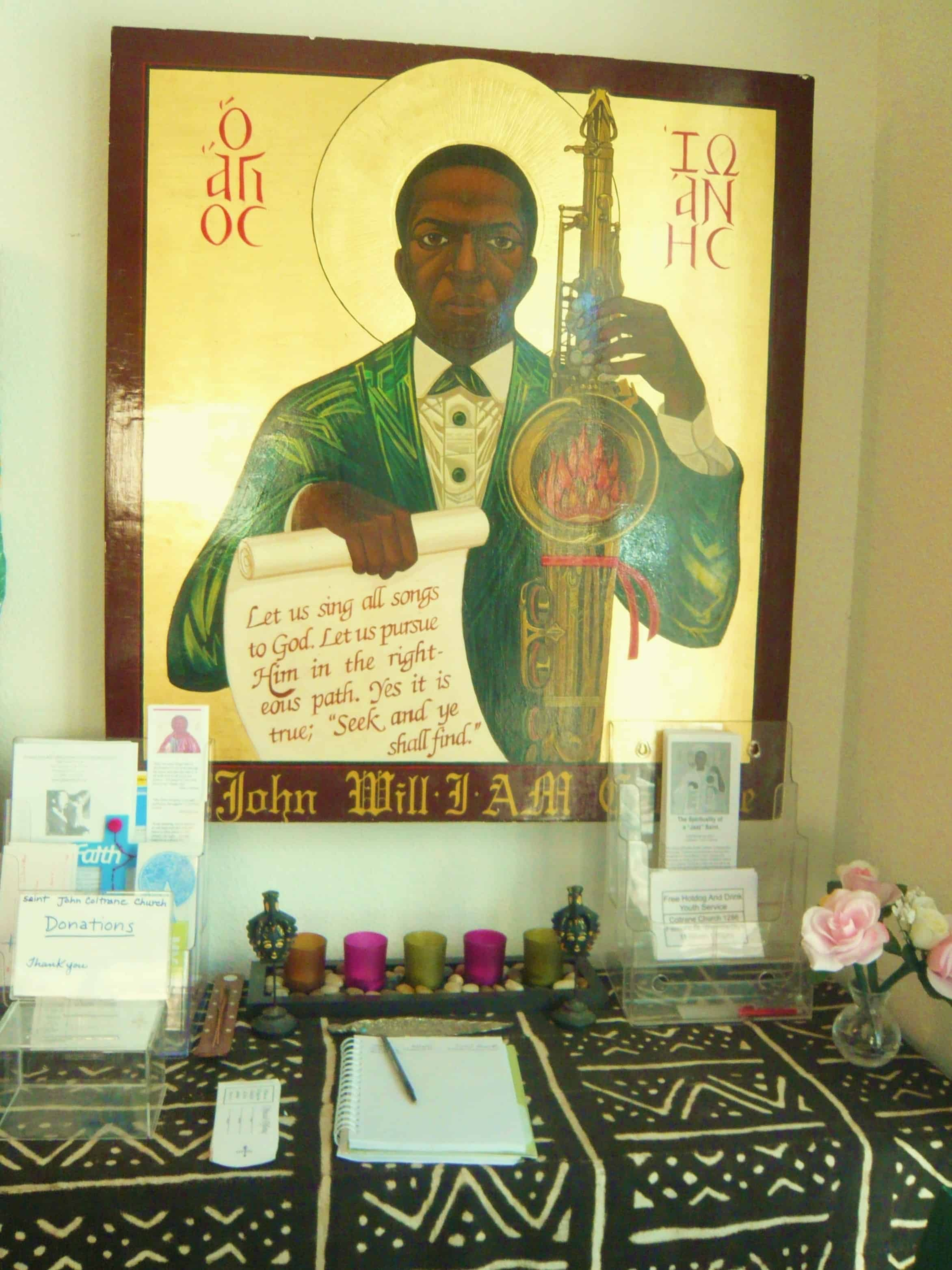 Altar to St John Coltrane, photo by danisabella