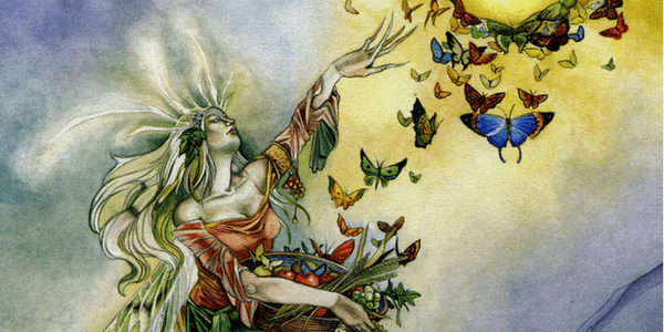 Detail from the Empress, Shadowscapes Tarot, art by Stephanie Pui-Mun Law