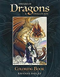 Dreams of Dragons and Dragon Kin Colouring Book by Ravynne Phelan