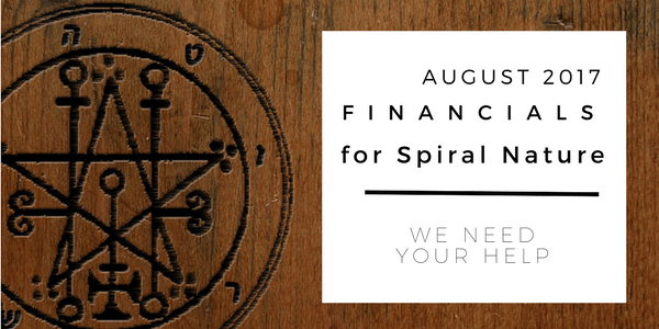 Financials for Spiral Nature August 2017