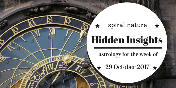 Hidden Insights: Astrology for the week of 29 October 2017