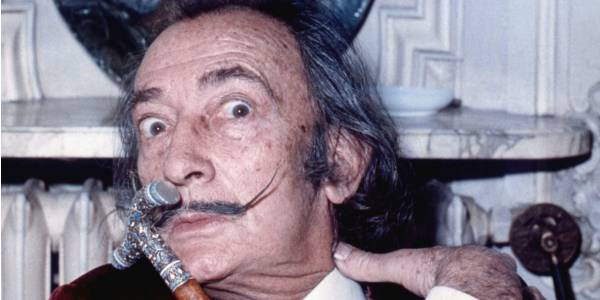 Salvador Dali, Allan Warren, image sourced from Wiki Commons
