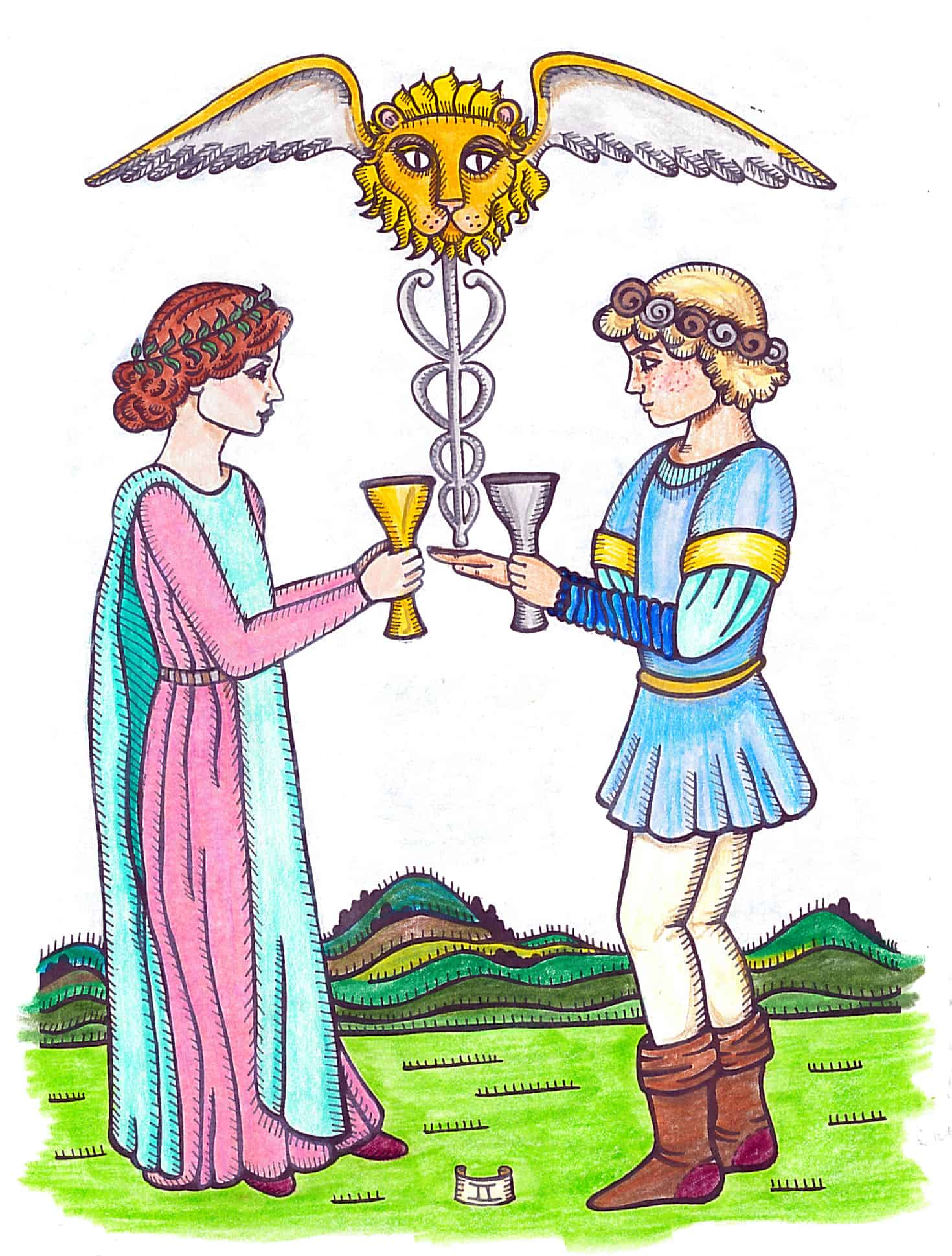 Tarot By Design Workbook, Two of Cups