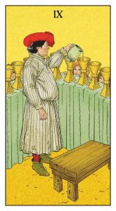 Nine of Cups, from the Before Tarot