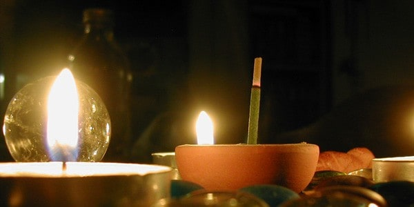 Candle magick, photo by Melanie Cook