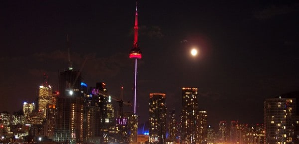 Toronto full moon, photo by Mark Watmough