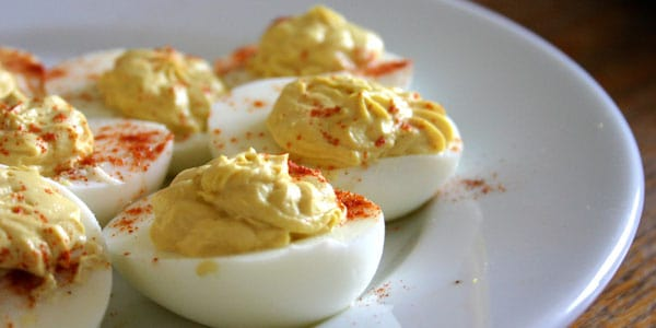 Devilled eggs, photo by Wendy Copley