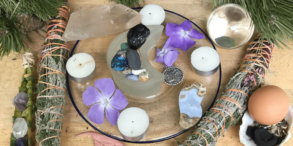 My Earth Day Full Egg Moon Altar by Inner Journey Events