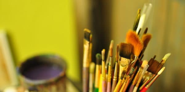 Paintbrushes, photo by Peter Miller