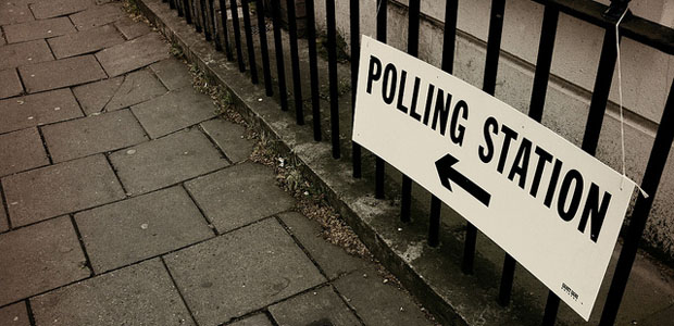 (October) Polling station, photo by John Keane