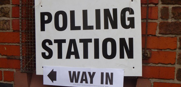 Polling station, photo by Pete