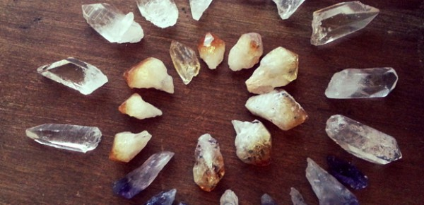 Raw crystals, photo by LeAnn