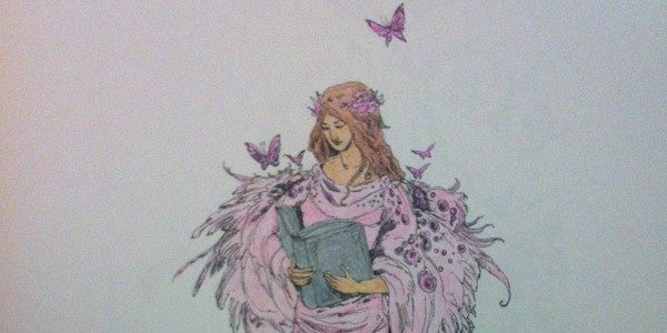 Shadowscapes Coloring Book, coloured by Marjorie Jensen