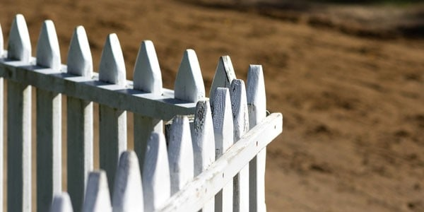 White picket fence, photo by Dave Lawler